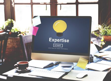 expertise: Expertise Light Bulb Icon Interface Concept