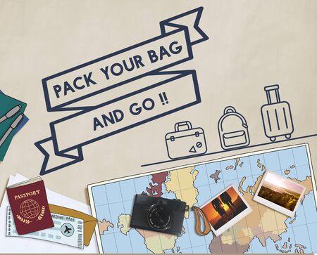 exploration: Travel Journey Exploration Holiday Vacation Concept Stock Photo