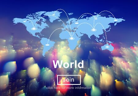 allover: World Allover Community Global International Concept Stock Photo