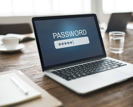 username: Password Access Firewall Internet Log-in Private Concept