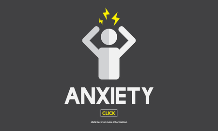 nervousness: Anxiety Angst Disorder Stress Tension Concept Stock Photo