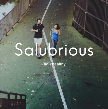 salubrious: Salubrious Wellness Healthy Fitness Strong Powerful Concept