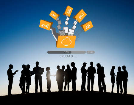 data archiving: Data Backup Files Online Database Storage Concept