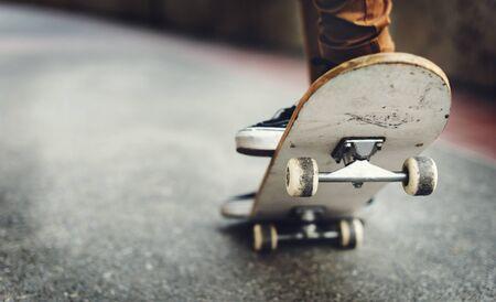 Skateboarding Practice Freestyle Extreme Sports Concept Stock Photo