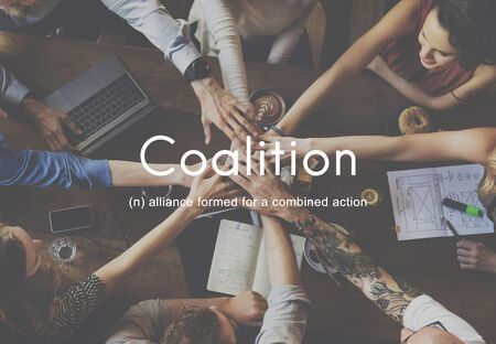 Coalition Association Alliance Corporate Union Concept Stock Photo
