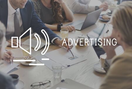 commerce: Advertising Commerce Media Marketing Concept Stock Photo