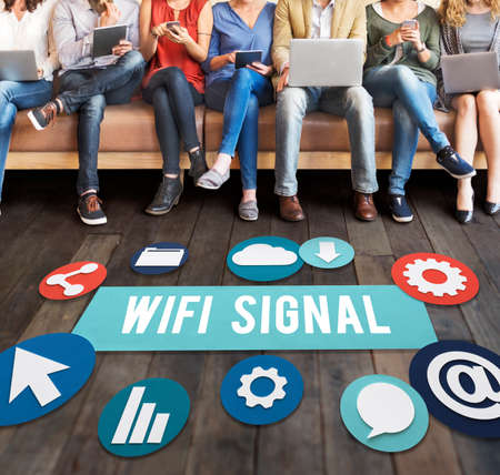 wireless signal: Wireless Signal Reception Mobility Graphic Concept