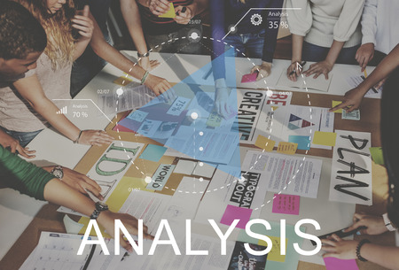Analysis concept in a meeting Banque d'images - 111773542