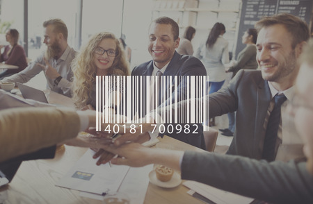 up code: Barcode Mark Sign Market Item Concept Stock Photo