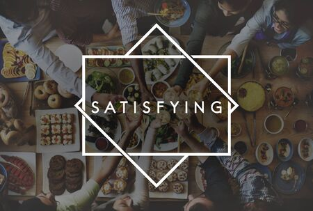 satisfying: Tasty Yammy Satisfying Food Meal Concept