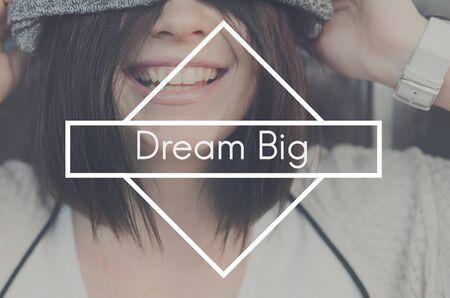 Dream Big Goal Hopeful Croyez Target Vision Concept