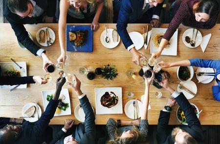 Les gens Acclamations Celebration Toast Bonheur Ensemble Concept