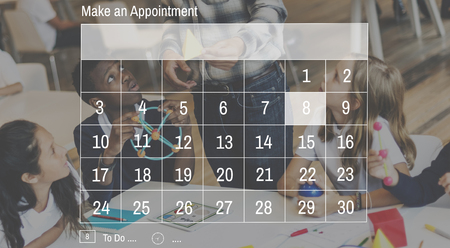 keywords adult: Calendar Dates Appointment Graphic Concept