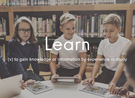 skills diversity: Knowledge Learn Education People Graphic Concept Stock Photo