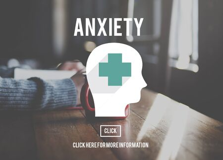 nervousness: Anxiety Disorder Apprehension Medical Concept