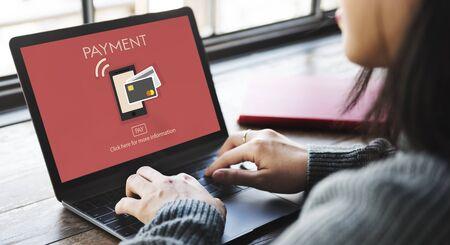 installment: Online Payment Money Remittance Transfer Finance Concept