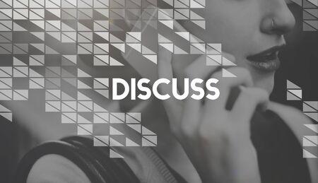 negotiate: Discuss Arguing Communication Negotiate Talking Concept