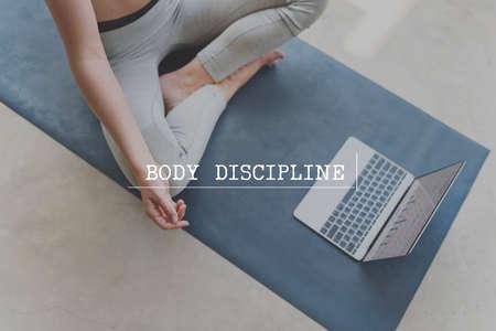 body and soul: Body Soul Mind Descipline Strength Concept