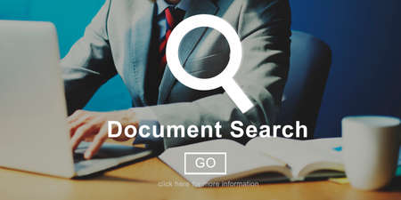 browse: Document Search File Browse Look Concept