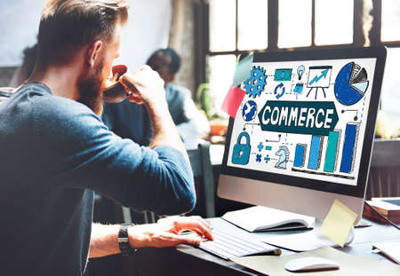 commerce: Commerce Marketing Business Strategy Concept