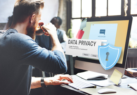 data privacy: Data Privacy protection Policy Technology Legal Concept Stock Photo
