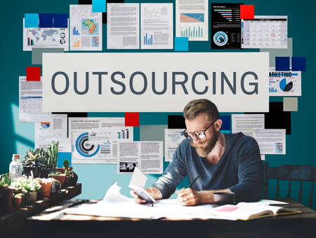 tasks: Outsourcing Function Tasks Contract Business Concept Stock Photo