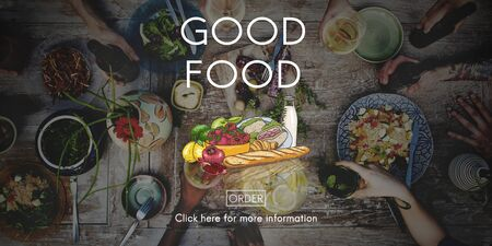 good food: Good Food Mood Healthy Living Nutrition Dining Concept