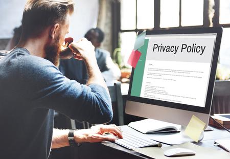 개인 정보 보호 정책 정보 원칙 전략 규칙 개념 스톡 콘텐츠