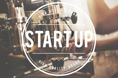 Start up concept with coffee machine
