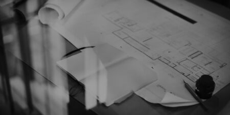 construction project: Construction Blueprint Project Working Planning Concept