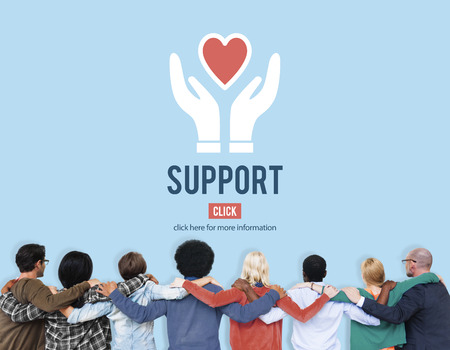 huddle: Support Helping Charity Icon Relief Concept