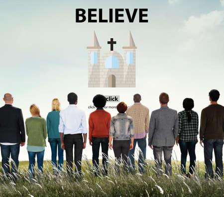 creer: Creer fe Imaginación Misterio mentalidad Concept