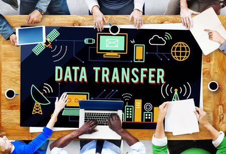 data transfer: Data Transfer Technology Network Operation Information Concept Stock Photo