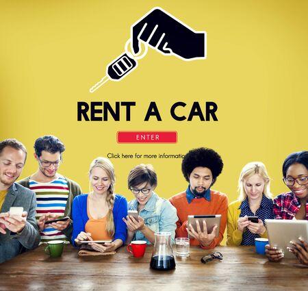 Car Rental Used Car Transportation Vehicle Concept Stock Photo
