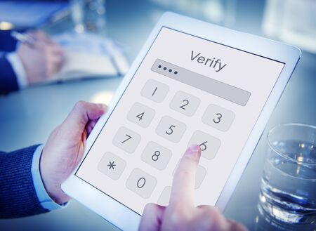 Log in Secured Access Verify Identity Password Concept Stock Photo