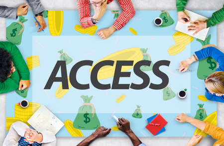 bankroll: Finance Economics Access Affluent Investment Concept Stock Photo