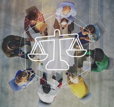 Justice Law Order Legal Graphic Concept Banque d'images