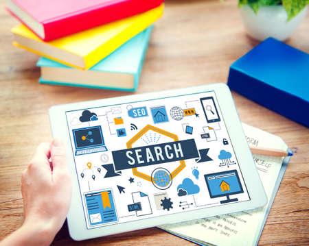 Search SEO Media Internet Connection Concept Stock Photo