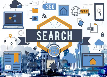 Search SEO Media Internet Connection Concept Stock Photo
