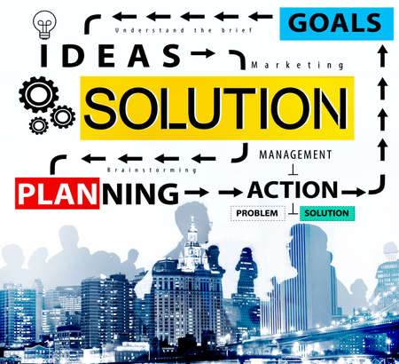 problem solution: Solution Problem Solving Ideas Strategy Concept Stock Photo