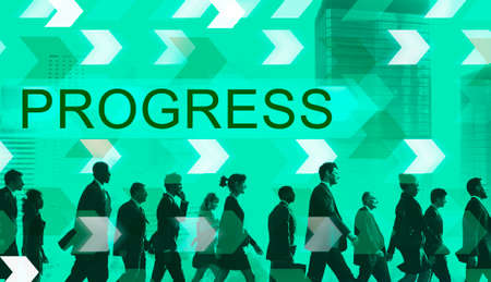 advancement: Progress Development Growth Advancement Concept Stock Photo