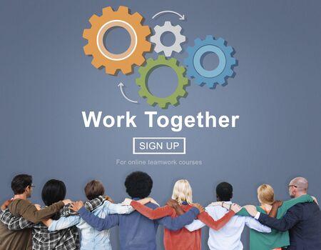 work together: Work Together Teamwork Collaboration Union Unity Concept