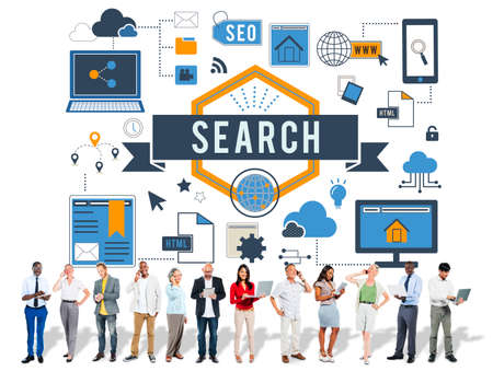 optimisation: Search SEO Media Internet Connection Concept Stock Photo