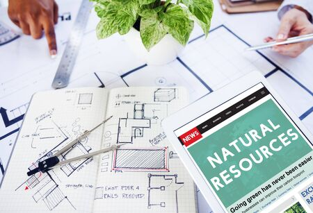 recursos naturales: Natural Resources Environmental Conservation concept Foto de archivo
