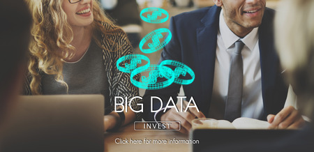 Big data concept with background