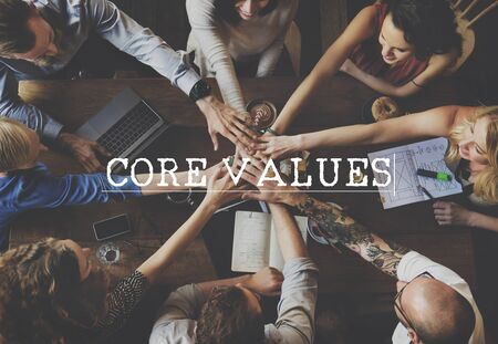 valores morales: Core Valores Principios Ideología Propósito Concepto de la Política Moral