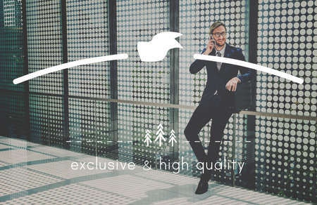 businessman waiting call: High Quality Brand Value Trademark Product Concept