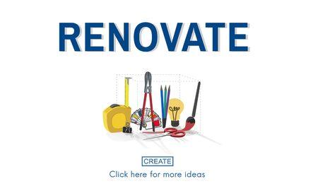 renew: Renovate Renew Creativity Instrument Work Concept