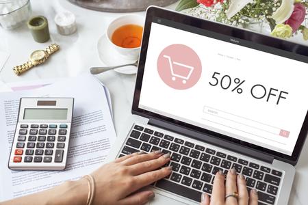 E-commerce Shop Online Homepage Sale Concept Stock Photo