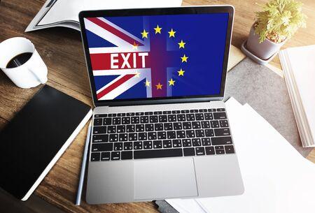 electronic voting: Britain EU Brexit Referendum Concept Stock Photo